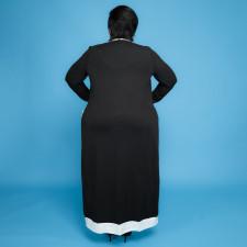Plus Size Sleeveless Midi Dress+Long Cloak 2 Piece Sets ONY-5101