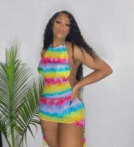 Sexy Mesh Halter Bikinis 3 Piece Sets MDUO-M076