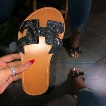 Rhinestone Shiny Outdoor Beach Slipper Sandals MYAF-8012