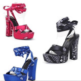 Sexy Thick High Heels Platform Lace-Up Sandals MYAF-1006