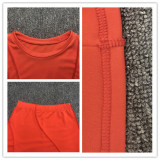 Fashion Long Sleeve Tie Up Pencil Pants Two Piece Sets HHF-9092