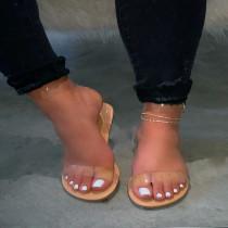Transparent Flat Beach Sandals MYAF-8011