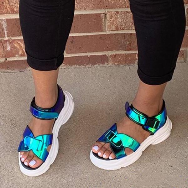 Sports Wedges Platform Velcro Sandal MYAF-1008