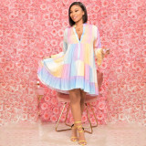 Fashion Printed Loose Long Sleeve Dress TK-6193