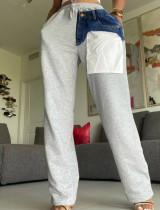 Casual Patchwork High Waist Straight Pants LSD-81013