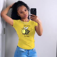 Fashion Simple Yellow T-shirt YNB-7204