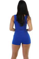 Casual Solid Sleeve One-Piece Romper MZ-2088