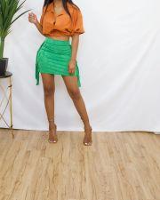 Sexy Solid Tassel Mini Skirt ANNF-6096
