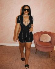 Sexy Lace-Up Short Sleeve Romper BENF-LY8020