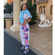 Casual Sports Loose Printed Long Pants YIY-5312