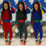 Contrast Color Long Sleeve Two Piece Pants Set GLF-10038
