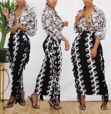 Sexy Printed Tassel Slim Maxi Skirt ZFF-57807