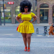 Casual Solid Short Sleeve Mini Skirt 2 Piece Sets CYA-1682