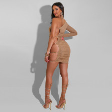 Sext Hot Drilling One Shoulder Club Dress CYA-9215