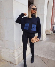 Casual Loose Knitted Turtleneck Sweater Top XMEF-X1035