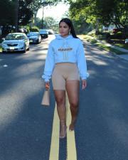 Casual Printed Hooded Long Sleeve Hoodie Top APLF-A970