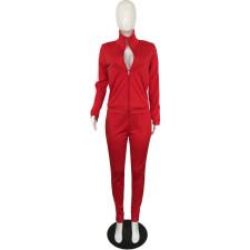 Plus Size Casual Sports Long Sleeve 2 Piece Pants Set QYF-5086