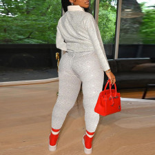 Plus Size Casual Long Sleeve Two Piece Pants Set CYA-1691
