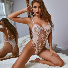 Sexy Sling One-piece Mesh See-through Underwear YQ-W490