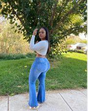Plus Size Denim Size Zipper Flared Jeans OD-8461