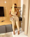 Sexy Sleeveless Hollow Out Jumpsuit QIYF-Q1026