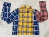 Plaid Print Long Sleeve Blouse Top DAI-8367