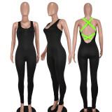 Sexy Sleeveless Backless Cross Strap Jumpsuit QIYF-Q1015