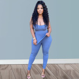 Sexy Solid Tube Top And Pants 2 Piece Suits QIYF-Q1002