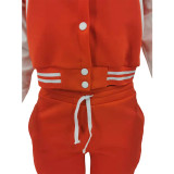 Casual Printed Baseball Jacket And Pants 2 Piece Sets TK-6203
