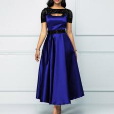 Plus Size Elegant Smooth High Waist Long Evening Dress CYA-1733