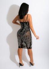 Sexy Rhinestone Spaghetti Strap Club Dress LSD-81064