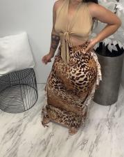 Plus Size Sexy Printed Tassel Long Skirt HGL-1737