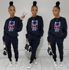 Casual Printed O Neck Sweatshirt And Pants 2 Piece Sets ZFF-57826