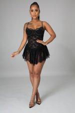 Sexy Lace Sling Mini Club Dress OSM-5291