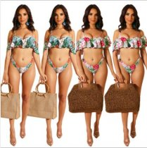 Sexy Printed 2pcs Bikinis Swimsuit Sets ME-248