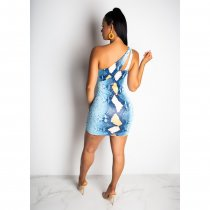 Sexy Snake Print Cut Out Sleeveless Mini Dresses CHY-1145