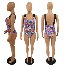 Sexy Colorful Print One Piece Swimsuit SC-520