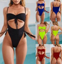 Sexy Bikinis Lace Up One Piece Swimsuit MJ-300