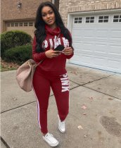 Letter Printing Tracksuits 2 Piece Sets LSD-8032