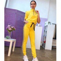 Casual Short Sleeve Tracksuit Two Piece Sets MEM-8204