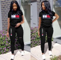 Casual Tracksuit Short Sleeve Two Piece Set LSD-8302
