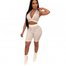 White Sexy Party 2 Piece Set PN-6137