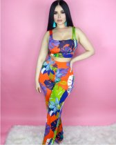 Floral Printed Tank Tops Pants Set YD-8017