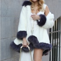 Winter Faux Fox Mink Fur Hooded Coat HHMY-323