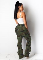 Camouflage Print Casual Holes Long Pants LSD-8632