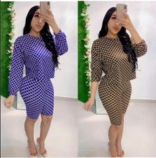 Plaid Print O Neck Long Sleeve Two Piece Shorts Set GS-1141