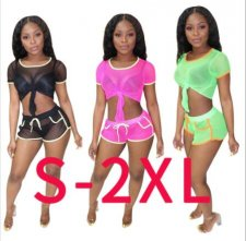 Sexy Sheer Mesh Tracksuit 2 Piece Set LSD-8338