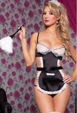 Lace Black Maid Lingerie Sets FQQ-0730