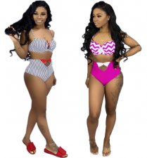 Sexy Stripes 2pcs Swimsuit BIkini Set MDF-5046