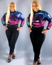 Colorful Sequin Full Sleeve Pullover OMY-5065